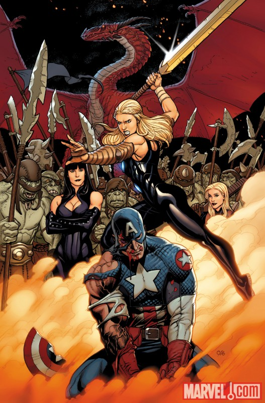 Image Featuring Zarda, Captain America (Ultimate)
