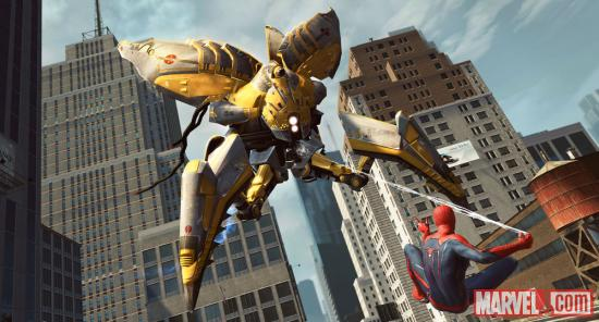 Spider-Man faces off with a Hunter in The Amazing Spider-Man video game