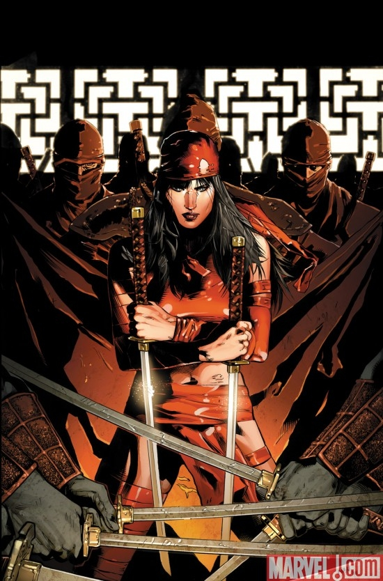 DARK REIGN: ELEKTRA #1 variant cover by Clay Mann