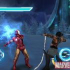 Iron Man battles Whiplash in the Iron Man 2 iPhone game