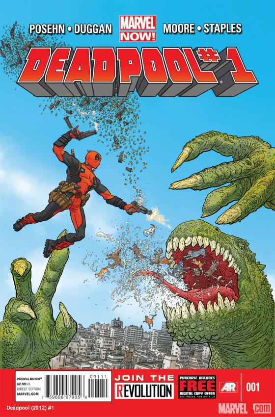 Deadpool (2012) #1 cover by Geof Darrow