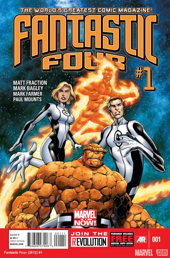 Fantastic Four (2012) #1 cover by Mark Bagley