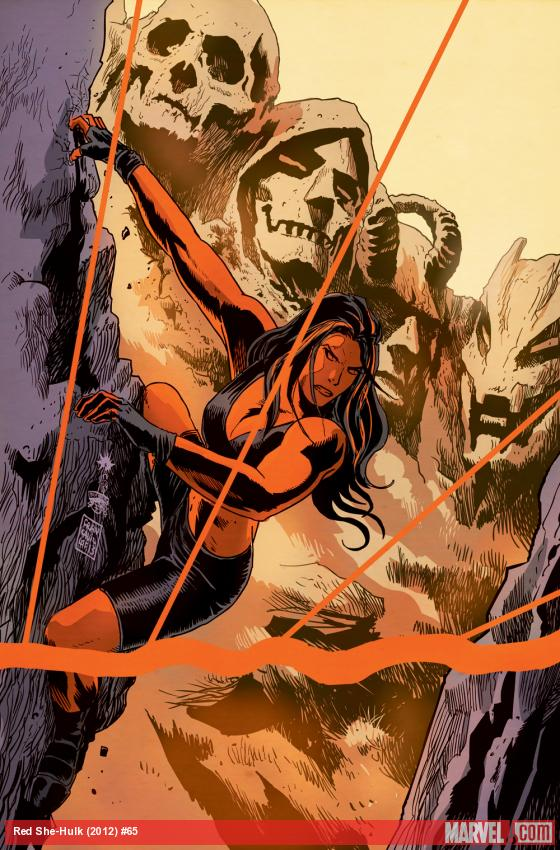 Red She-Hulk #65 cover by Francesco Francavilla