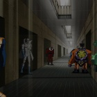 Screenshot of the villains' jailbreak in The Avengers: Earth's Mightiest Heroes!