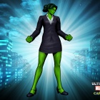 Alternate She-Hulk skin from the Brawler DLC pack for Ultimate Marvel vs. Capcom 3