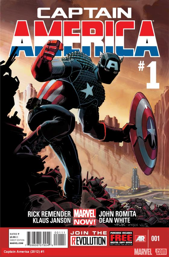 Captain America (2012) #1 cover by John Romita Jr.