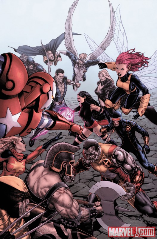 Image Featuring Colossus, Pixie, Cyclops, Dark Avengers, Emma Frost, Norman Osborn, Psylocke, Sentry (Robert Reynolds), X-Men, Moonstone, Ares, Sub-Mariner, Archangel