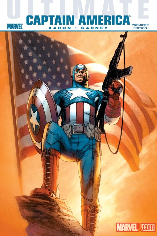ULTIMATE COMICS CAPTAIN AMERICA PREMIERE HC cover by Ron Garney