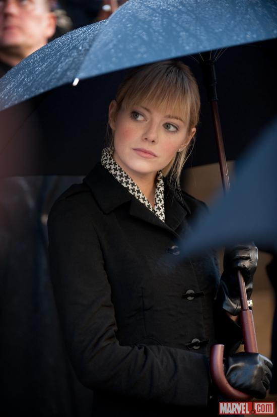 Emma Stone as Gwen Stacy in The Amazing Spider-Man