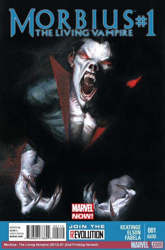 cover from Morbius: The Living Vampire (2013) #1 (2ND PRINTING VARIANT)