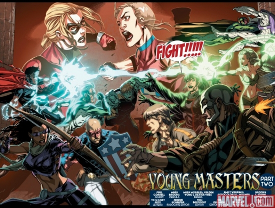 DARK REIGN: YOUNG AVENGERS #2, Page 3&amp;4