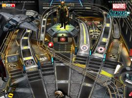 Screenshot from the Marvel Pinball: Marvel's The Avengers mobile table
