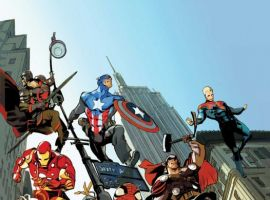 Image Featuring Pete Wisdom, MI: 13, Meggan, Black Knight (Sir Percy of Scandia), Captain Britain, Iron Man, Thor