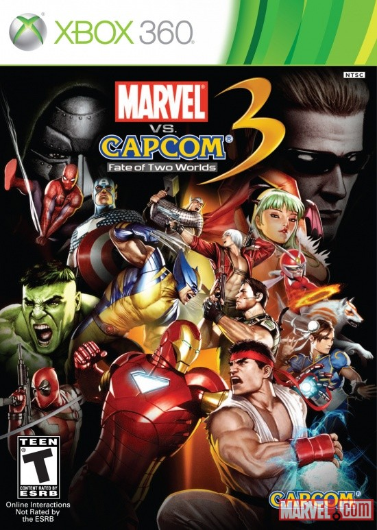 Marvel vs. Capcom 3: Fate of Two Worlds Xbox 360 Box Art