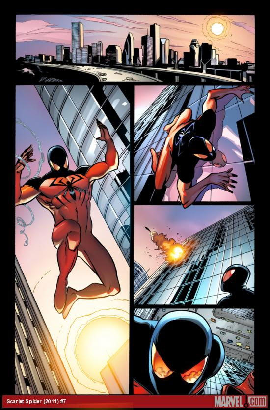 Scarlet Spider #7 preview art by Khoi Pham, Tom Palmer &amp; Edgar Delgado