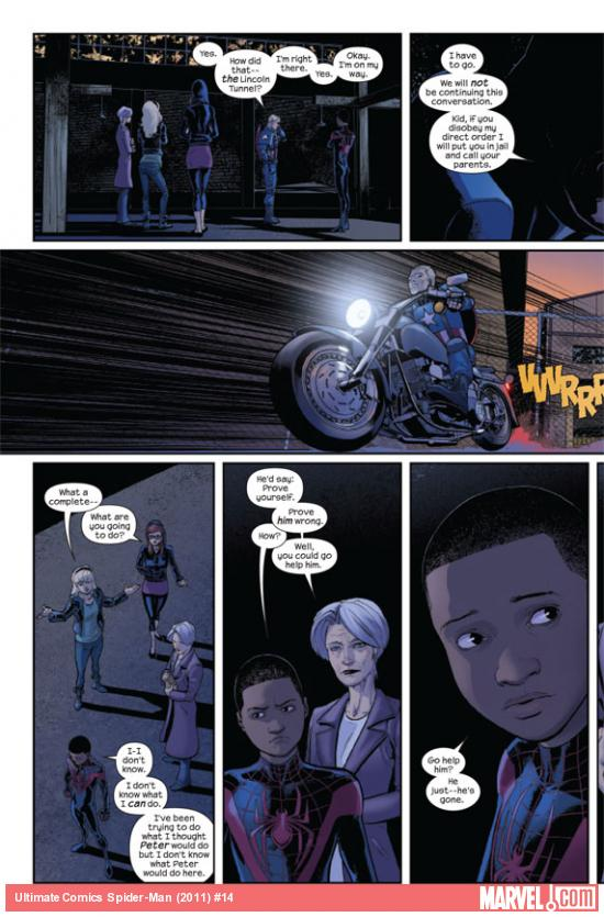 Ultimate Comics Spider-Man #14 preview page by David Marquez