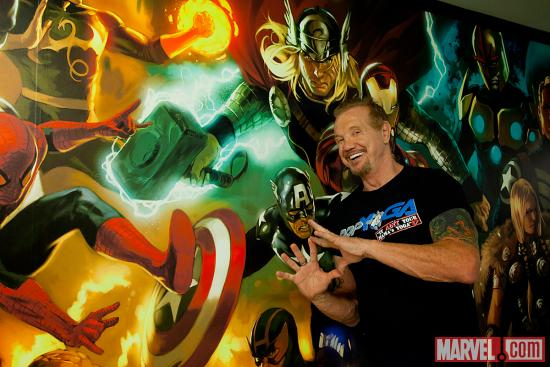 Diamond Dallas Page at Marvel HQ