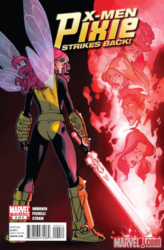 X-MEN: PIXIE STRIKES BACK #4  cover by Stuart Immonen