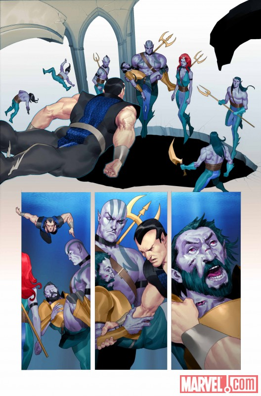 NAMOR: THE FIRST MUTANT #1 preview art by Ariel Olivetti 5