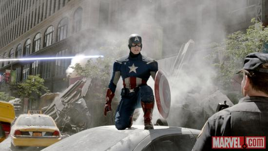 Captain America, played by Chris Evans, in Marvel's The Avengers