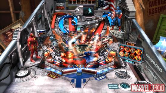 The Marvel Pinball: Civil War table