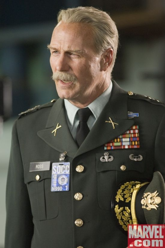 William Hurt as General Thunderbolt Ross