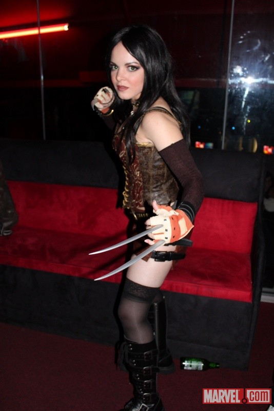An X-23 cosplayer from the Marvel vs. Capcom 3 Fight Club