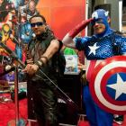 SDCC 2012: Hawkeye and Captain America Costumers at the Marvel Booth