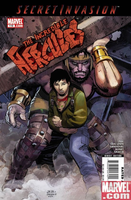 Cover of THE INCREDIBLE HERCULES #119