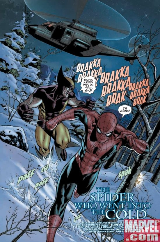 Images From Weekend Preview: What If? Spider-man Vs. Wolverine #1
