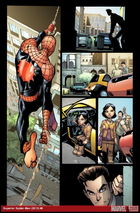 Superior Spider-Man #6 preview art by Humberto Ramos