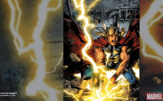 Thor: First Thunder # 3 cover art by Jay Anacleto
