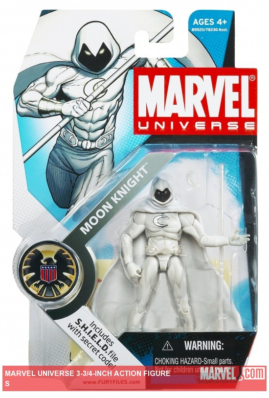 Moon Knight 3 3/4 Inch Marvel Universe Action Figure from Hasbro, Wave 4