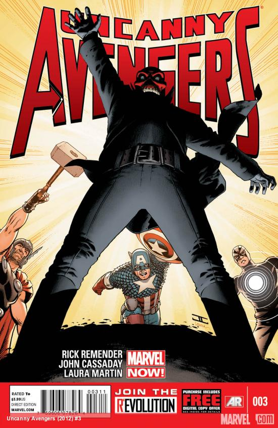Uncanny Avengers #3 cover by John Cassaday