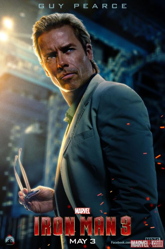Guy Pearce stars as Aldrich Killian in Marvel's Iron Man 3