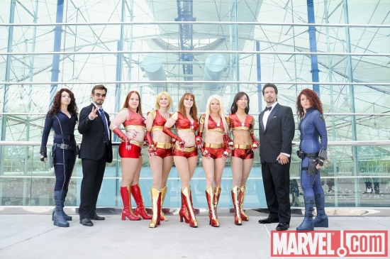 Marvel Cosplay - Tonys Stark, Black Widows and the Ironettes