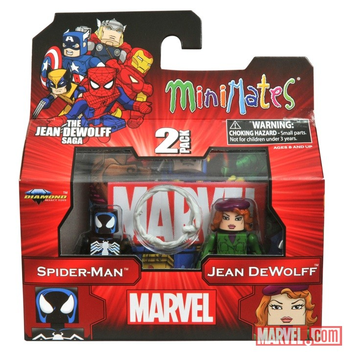 Spider-Man and Jean DeWolff Minimates from The Jean DeWolff Saga