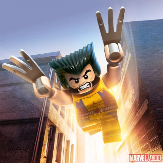 Wolverine character render from LEGO Marvel Super Heroes