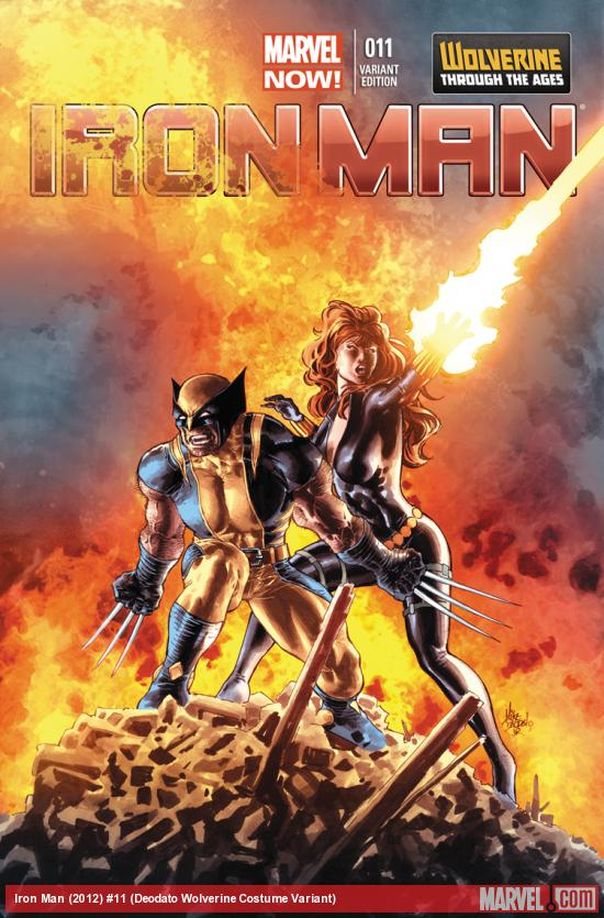 IRON MAN 11 DEODATO WOLVERINE COSTUME VARIANT (NOW, 1 FOR 20, WITH DIGITAL CODE)