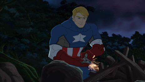 Captain America roughs it in Marvel's Avengers Assemble - Savages