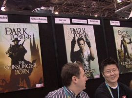 The Dark Tower team gets ready to sign