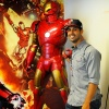 Gio Gonzalez Poses With Iron Man