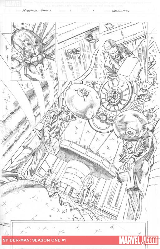 Season One: Spider-Man #1 preview pencils by Neil Edwards