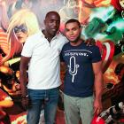 Actor Michael K. Williams and his son Elijah Williams at Marvel Headquarters in NYC