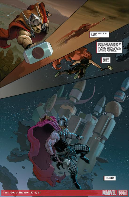 Thor: God of Thunder #1 preview art by Esad Ribic