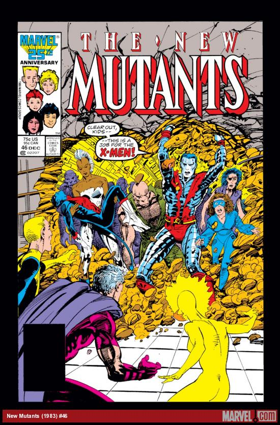 New Mutants (1983) #46 Cover