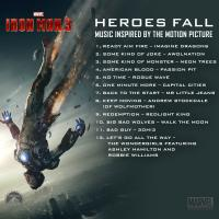 The full track list from Heroes Fall, music from and inspired by Marvel's Iron Man 3