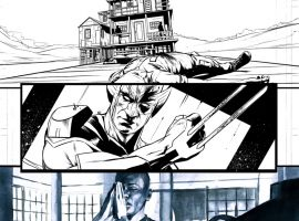 Death of Wolverine: The Logan Legacy #5 preview inks by Elia Bonetti