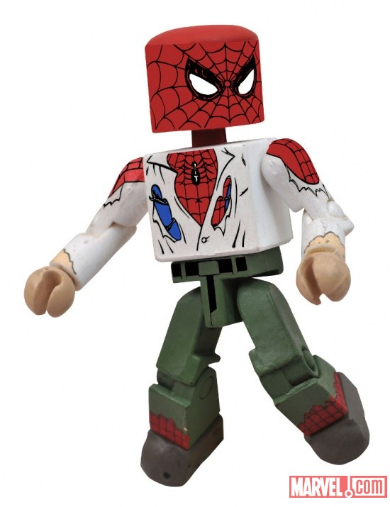 Unmasked Spider-Man Minimate by Diamond Select