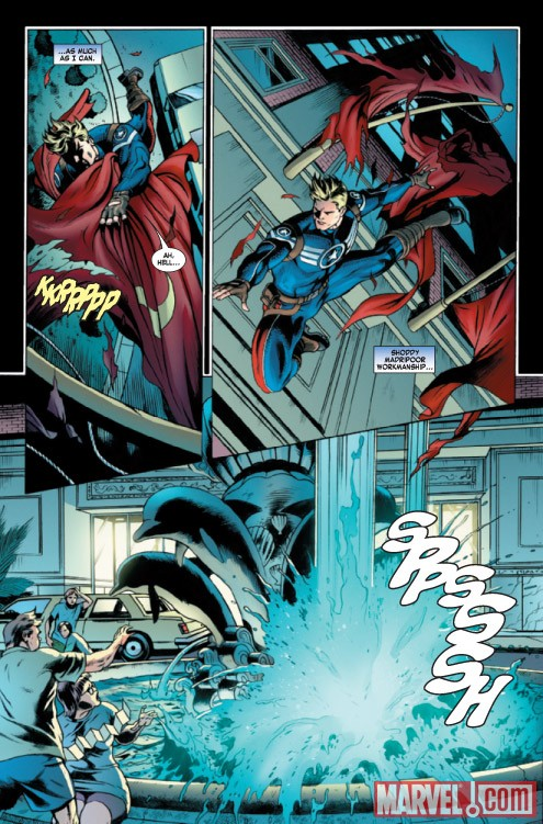 Steve Rogers: Super-Soldier #2 preview art by Dale Eaglesham